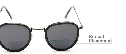 Detail of The Hitch Bifocal Reading Sunglasses in Grey with Smoke