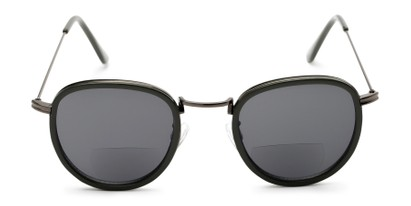 Front of The Hitch Bifocal Reading Sunglasses in Grey with Smoke