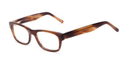 Angle of Holliday by felix + iris in Marbled Brown, Women's and Men's Retro Square Reading Glasses