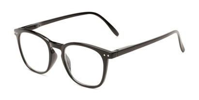 Angle of The Homer in Black, Women's and Men's Square Reading Glasses