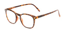 Angle of The Homer in Tortoise, Women's and Men's Square Reading Glasses