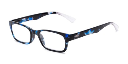 Angle of The Hope in Blue Tortoise, Women's Rectangle Reading Glasses