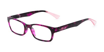 Angle of The Hope in Pink Tortoise, Women's Rectangle Reading Glasses