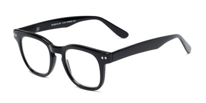 Angle of The Hopper in Black, Women's and Men's Retro Square Reading Glasses