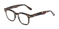 Angle of The Hopper in Brown Tortoise, Women's and Men's Retro Square Reading Glasses