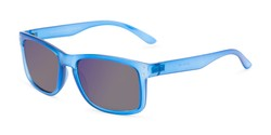 Angle of The Ingle Reading Sunglasses in Blue with Blue/Grey Mirror, Men's Rectangle Reading Sunglasses