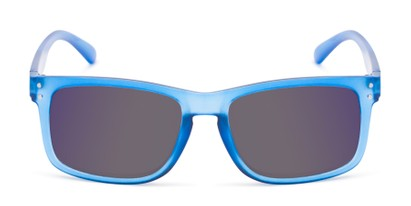 Front of The Ingle Reading Sunglasses in Blue with Blue/Grey Mirror