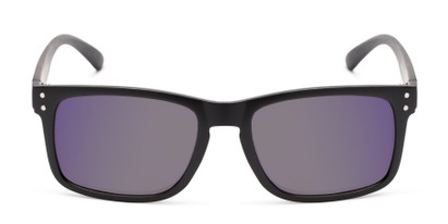 Front of The Ingle Reading Sunglasses in Black with Blue/Grey Mirror