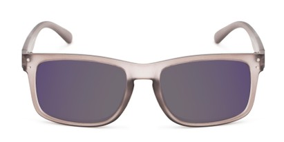 Front of The Ingle Reading Sunglasses in Grey with Blue/Grey Mirror