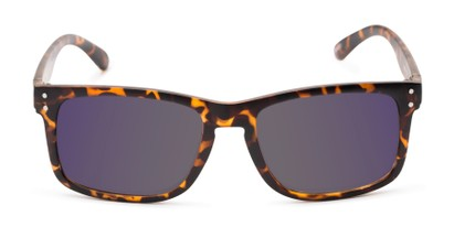 Front of The Ingle Reading Sunglasses in Tortoise with Blue/Grey Mirror