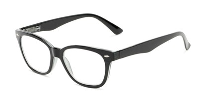 Angle of The Ira in Black, Women's and Men's Retro Square Reading Glasses