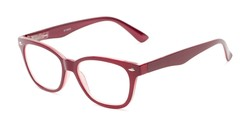 Angle of The Ira in Burgundy Red, Women's and Men's Retro Square Reading Glasses