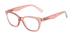 Angle of The Ira in Blush Pink, Women's and Men's Retro Square Reading Glasses