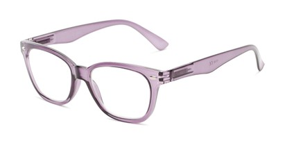 Angle of The Ira in Lilac Purple, Women's and Men's Retro Square Reading Glasses