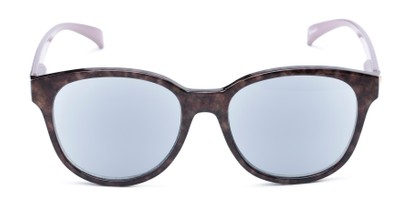 Front of The Isla Reading Sunglasses in Tortoise/Purple with Smoke