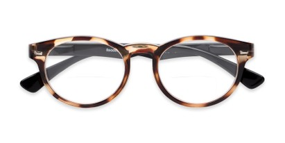 Folded of The Ivy League Bifocal in Brown Tortoise/Black