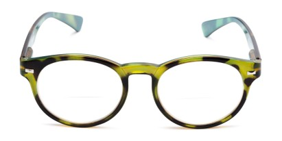 Front of The Ivy League Bifocal in Green Tortoise/Blue