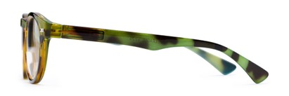 Side of The Ivy League Bifocal in Green Tortoise/Blue