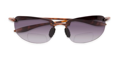Folded of The Jack Bifocal Reading Sunglasses in Matte Tortoise with Smoke