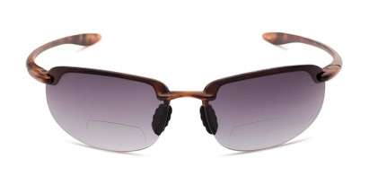 Front of The Jack Bifocal Reading Sunglasses in Matte Tortoise with Smoke