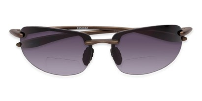 Folded of The Jack Bifocal Reading Sunglasses in Bronze with Smoke