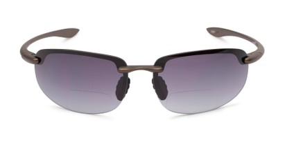 Front of The Jack Bifocal Reading Sunglasses in Bronze with Smoke