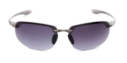 Front of The Jack Bifocal Reading Sunglasses in Clear Grey with Smoke