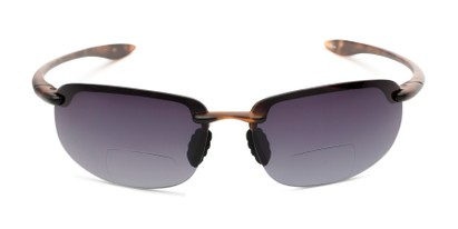 Front of The Jack Bifocal Reading Sunglasses in Glossy Tortoise with Smoke