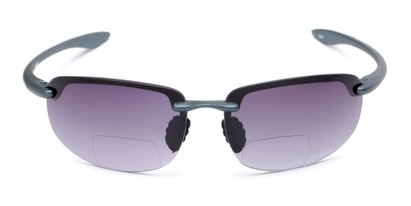 Front of The Jack Bifocal Reading Sunglasses in Blue with Smoke