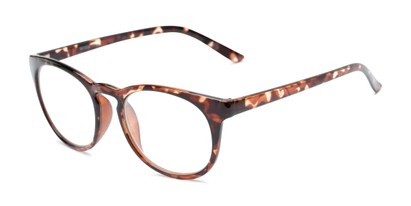 Angle of The James in Light Tortoise, Women's and Men's Round Reading Glasses