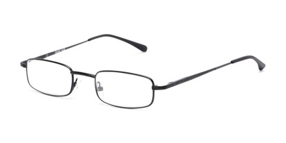 Angle of The Jamison in Black, Women's and Men's Rectangle Reading Glasses