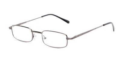 Angle of The Jamison in Grey, Women's and Men's Rectangle Reading Glasses