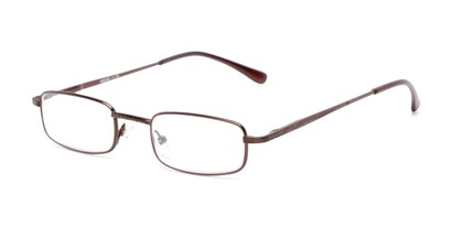 Angle of The Jamison in Bronze, Women's and Men's Rectangle Reading Glasses