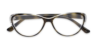multicolored tortoise cat eye readers