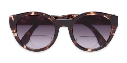 Folded of The January Bifocal Reading Sunglasses in Light Tortoise with Smoke