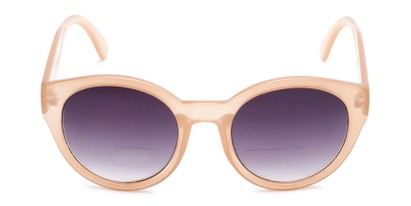 Front of The January Bifocal Reading Sunglasses in Light Brown with Smoke