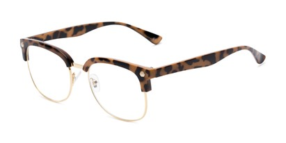Angle of The Jean in Tortoise, Women's Browline Reading Glasses