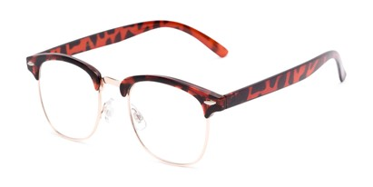 Angle of The Jet Setter in Tortoise, Women's and Men's Browline Reading Glasses