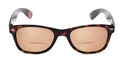 Front of The Joliet Bifocal Reading Sunglasses in Tortoise with Amber