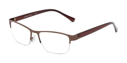 Angle of The Jones Multifocal Computer Reader in Brown, Women's and Men's Browline Reading Glasses