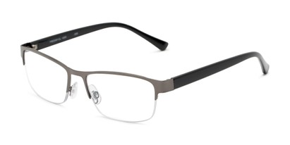 Angle of The Jones Multifocal Reader in Grey/Black, Women's and Men's Browline Reading Glasses