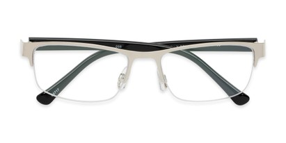 Folded of The Jones Multifocal Reader in Silver/Black