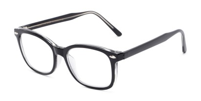 Angle of The Jupiter in Black, Women's and Men's Retro Square Reading Glasses