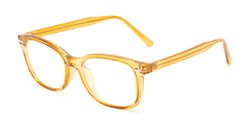 Angle of The Jupiter in Yellow, Women's and Men's Retro Square Reading Glasses