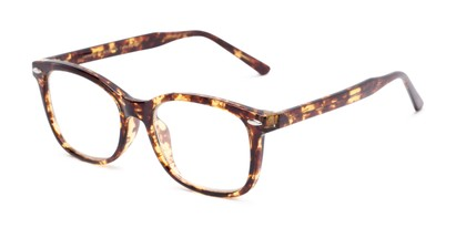 Angle of The Jupiter in Tortoise, Women's and Men's Retro Square Reading Glasses