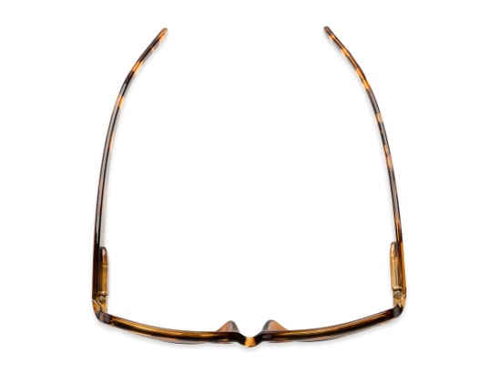 Overhead of The Karissa Bifocal Reading Sunglasses in Brown Tortoise with Amber