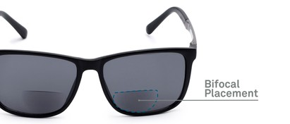Detail of The Kearney Bifocal Reading Sunglasses in Matte Black with Smoke