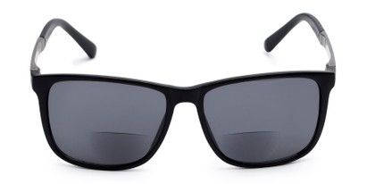 Front of The Kearney Bifocal Reading Sunglasses in Matte Black with Smoke