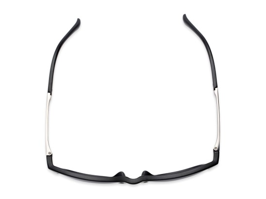 Overhead of The Kearney Bifocal Reading Sunglasses in Matte Black with Smoke