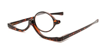 Angle of The Kellyn Makeup Reader in Brown Tortoise, Women's Round Reading Glasses